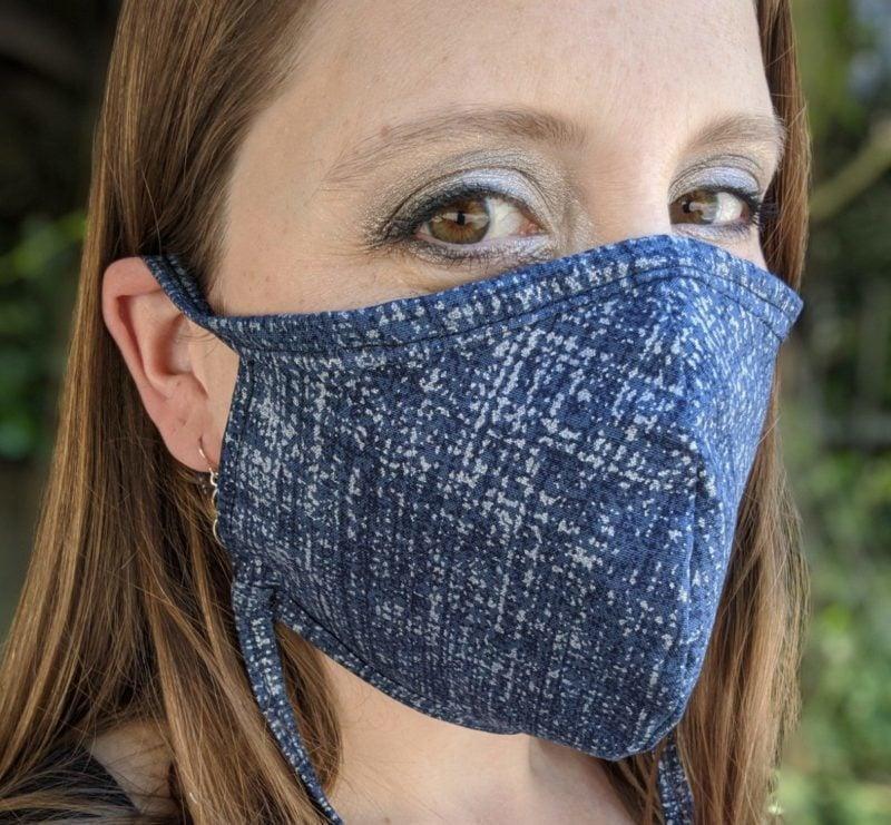 Blue Pattern Facemask